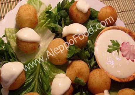كبة البطاطا بالقشطة والجبن