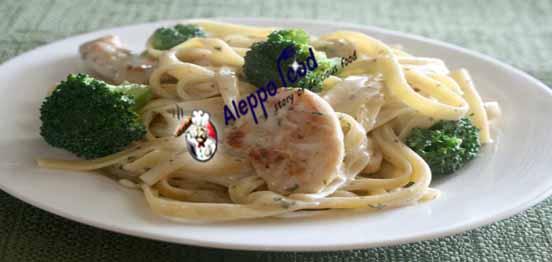 معكرونة ألفريدو بالدجاج