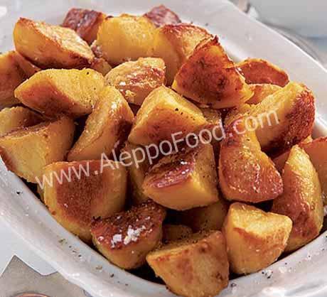 بطاطس محمرة بجبنة بارميزان