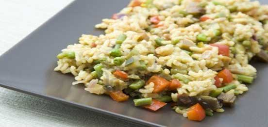 الأرز بالبازلاء