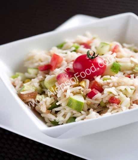 الأرز بالخضار والبشاميل